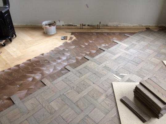 F2 opbouwen van de patroonvloer