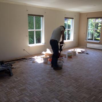 F3 het leggen van de mozaik eiken ondervloer